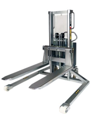 Stackers, Electric stacker, Inox, with straddle legs (EHSSI)